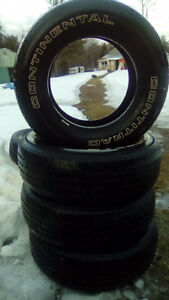 Four P235 70 16 M+S tires also two P235 75 16 M+S tires