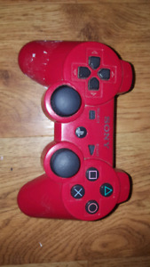 Red PS3 controller