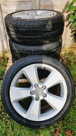 "QUICK SALE AUDI ALLOYS 17"" BRAND NEW TYRES 225 45 17"