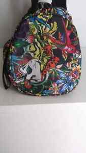 RARE small multi color prints ED HARDY duffle bag sac West Island Greater Montréal image 3