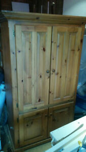 Charming Solid Pine Wardrobe