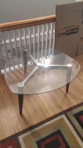 GLASS TOP COFFEE TABLE - pending pickup
