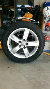 Snow tires with Audi factory rims