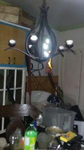 lustre suspendu en fer forgé 5 ampoule