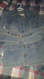 Suzy Shier stretch denim jacket xl