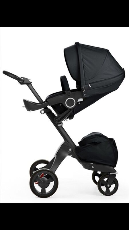 stokke xplory v4 true black edition with izigo car seat and accessories in westminster london. Black Bedroom Furniture Sets. Home Design Ideas