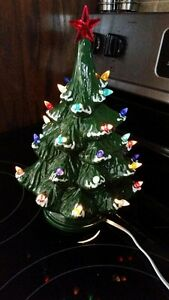 Beautiful Original Ceramic Christmas tree lamp