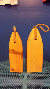 Hand crafted wooden buoy