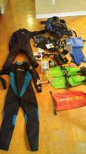 Scuba diving gear. Dive gear