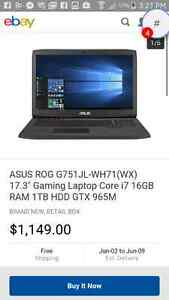 Asus g751j gaming laptop