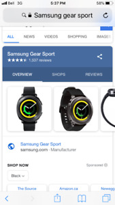 Samsung sport gear exercise watch. $ 450 new months ago. $ 170
