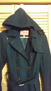Womens 1X double breasted trench coat