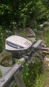 Two evinrude 15.h.p. Outboard motors