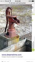Hand pump for well