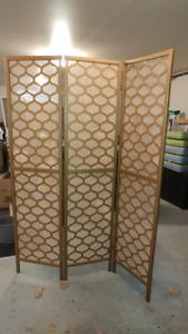 Paravents 3 panneaux bois solide