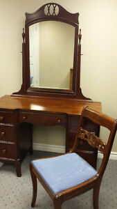 Antique Mahogany Vanity/ Dresser by Knechtels Ltd.