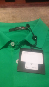 Brand new tags on Ralph Lauren L mens golf shirt
