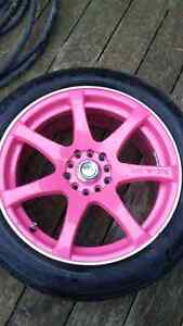 "17"" Rims With Tires - 5x114.3 - 5x100 London Ontario image 1"