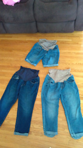 Maternity jeans, capris and shorts