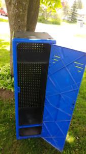 Plastic blue jays locker