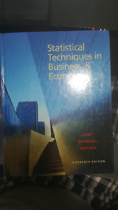 Statistical Techniques in business &Economics 16th Ed