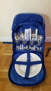 Backpack picnic set, portable, never used