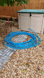 Blue 23mm PVC Mains Water Pipe