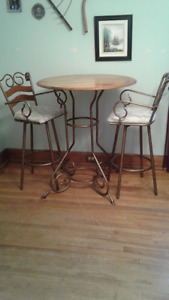 Pub Table and Two Stools