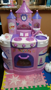 Princess toy kitchen and sofa bed