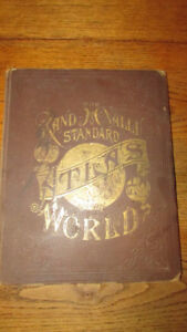 Antique Rand McNally  Standard Atlas of the World..... 1888.