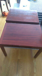 Denmark Hand Made Wooden Side Tables Very well made!!!