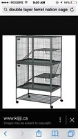 Double layer ferret nation cage