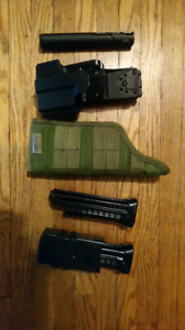 Tiberius 8.1 paintball barrel holsters and mags