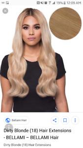 "Bellami dirty blonde extensions 18"""