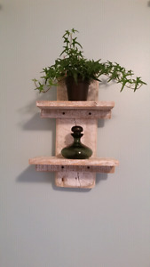 Small rustic double shelf