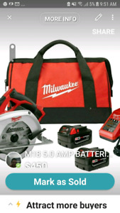 M18 5.0 AMP BATTERIES  Cordless 6-1/2 in. SAW