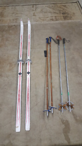 Karhu cross country skis and poles