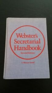 Webster's Secretarial Handbook, Second Edition