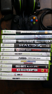 Xbox 360 slim 250gb+ 11 games and more