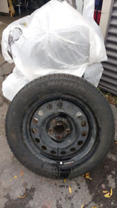 SET OF FOUR MICHELIN X-ICE SNOW TIRES WITH RIMS