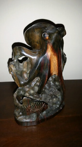 Wooden Hand Carved Sea Sculpture