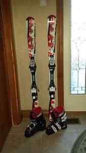 Childrens Downhill ski set
