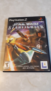 PS2 STAR WARS STARFIGHTER & RATCHETT DEADLOCKED