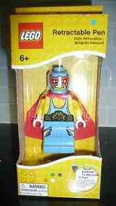 2013 LEGO Retractable Pen Figure Guy With Cape