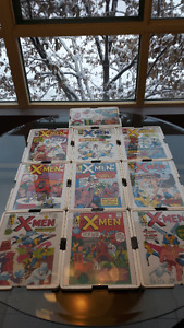 Set of 10 Original Xmen 1-10 Covers Glass Covered Pictures - New