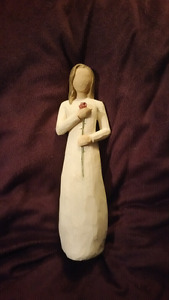 "6 inch tall willow tree ""love"" ornament"