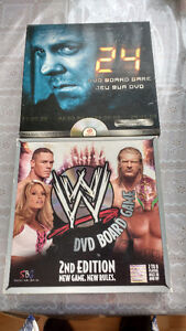 Two WWE DVD Bored game 24 DVD Bored game 2 for$10