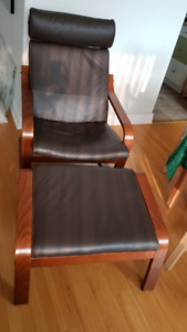 Poang Armchair with Foot Stool Included