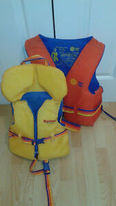 Two Life Jackets..One Child...One Adult