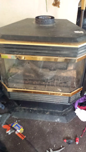 Stand alone natural gas fireplace